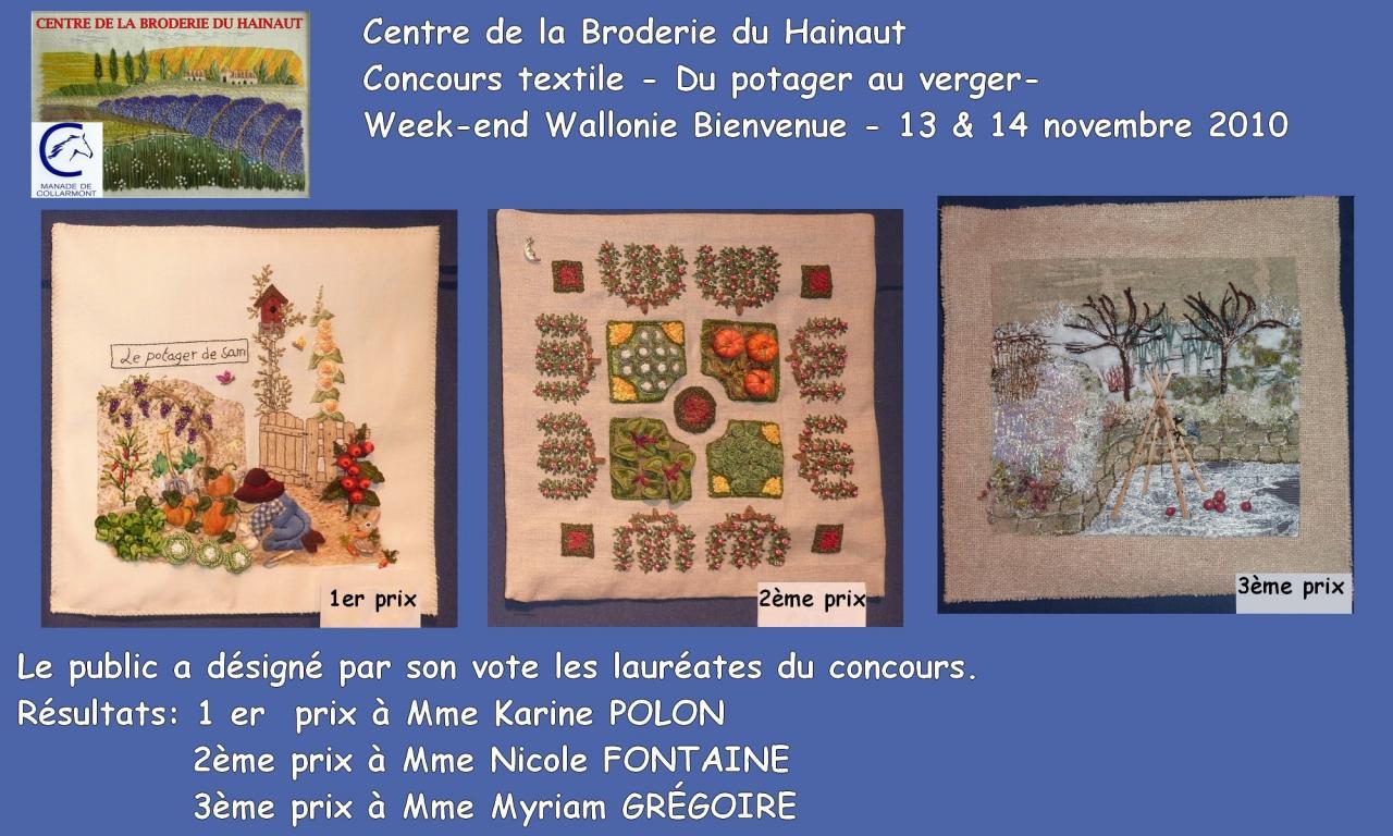 2010 Résultat concours textile